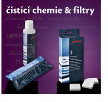 Čistící chemie a filtry